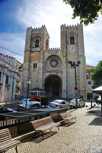 Lisbon Cathedral stands proudly in the Alfama section