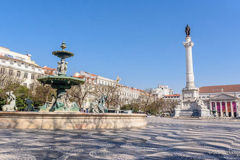 D. Maria II National Theatre and Rossio Square