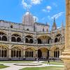 Enjoying the Courtyard of the Gothic Monastery