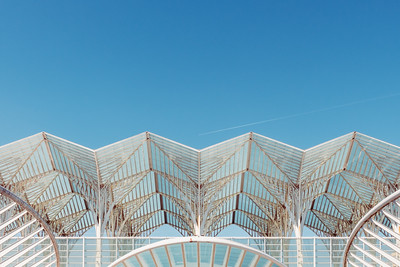 Detail of Lisbon Oriente station by Santiago Calatrava