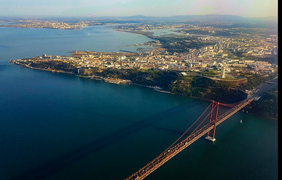 25th of April Bridge spanning Tagus River