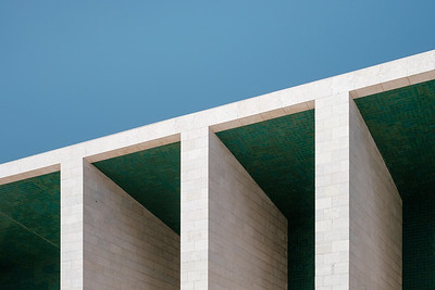 Detail of the Portugal Pavilion in Lisbon