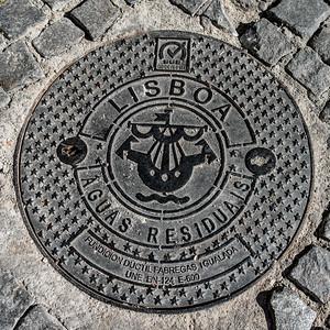 Lisbon manhole cover