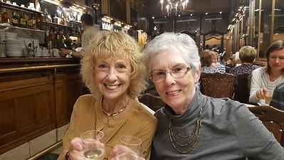 Linda and Joyce at Cafe A Brasileira