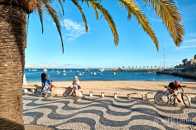 Die Stadt Cascais an der Westküste Portugals in der Nähe von Lissabon