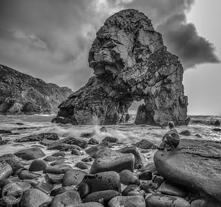 Praia do Louriçal - Cabo da Roca - B&W