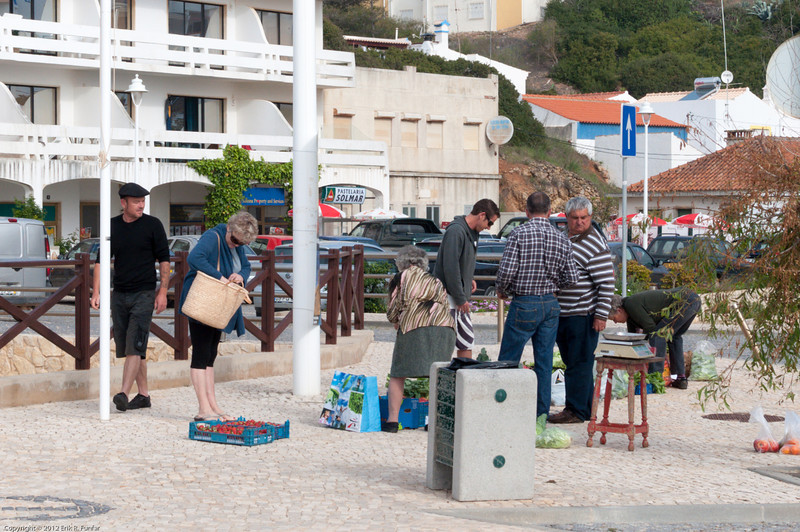 Street market on the main road