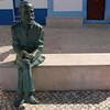 Escultura na Praia de Santa Cruz