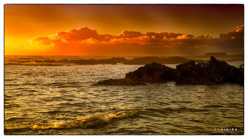 Viana do Castelo- praia norte - por do sol