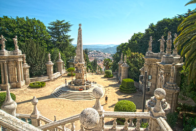 Steps down from Our Lady of the Remedies, Lamego