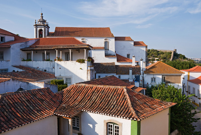 """Obidos Rooftops"" - Obidos, Portugal"
