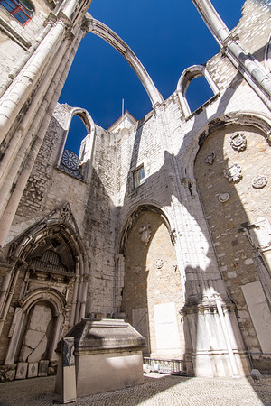 Carmo Convent ruins in Lisbon