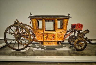 """Carrosses Modernes"" - French ceremonial vehicle brought to Portugal in 1666 - National Coach Museum - Museu Nacional dos Coches - Lisboa"