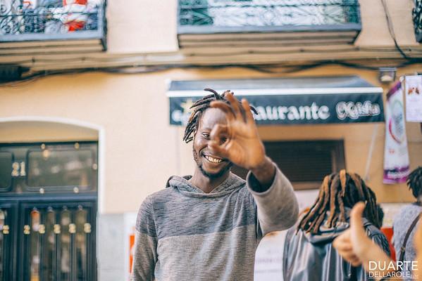 Senegalese musicians in Madrid