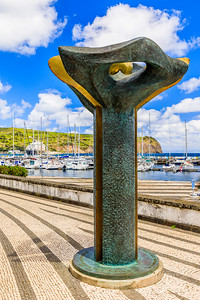 Açores-Faial-Horta harbor sculpture