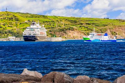 Açores-Faial-Horta to Pico ferry