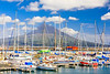 Açores-Faial-Horta harbor and Mt. Pico