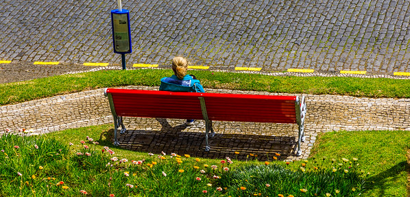 Açores-Faial-Horta-Waiting for the bus
