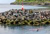 Açores-Terceira-Açores-Terceira-Angra do Heroísmo Porto Recreio Pier Head with Tetrapods.