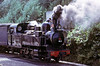 CP 2-6-0T E97, between Tondela and Viseu, August 1972. Another water stop.  Photo by Les Tindall.