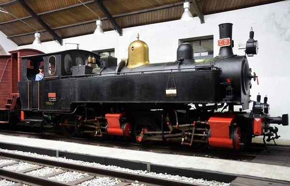 Porto Povoa & Famalicao Railway 0-4-4-0T 14, Lousado Railway Museum, 21 May 2016 1.  Later became CP E151, and still carries the number plates on the chimney.