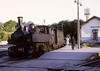 CP 0-4-4-0T E168, Senhora da Hora, August 1972 1.  The Henschel Mallet waits in the bay with the local service to Porto Trinidade.  Photo by Les Tindall.