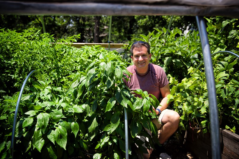 Chef Peter in the garden<br /> ©Martha Pollay