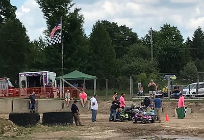 The first event of the day? Kid's power wheels.