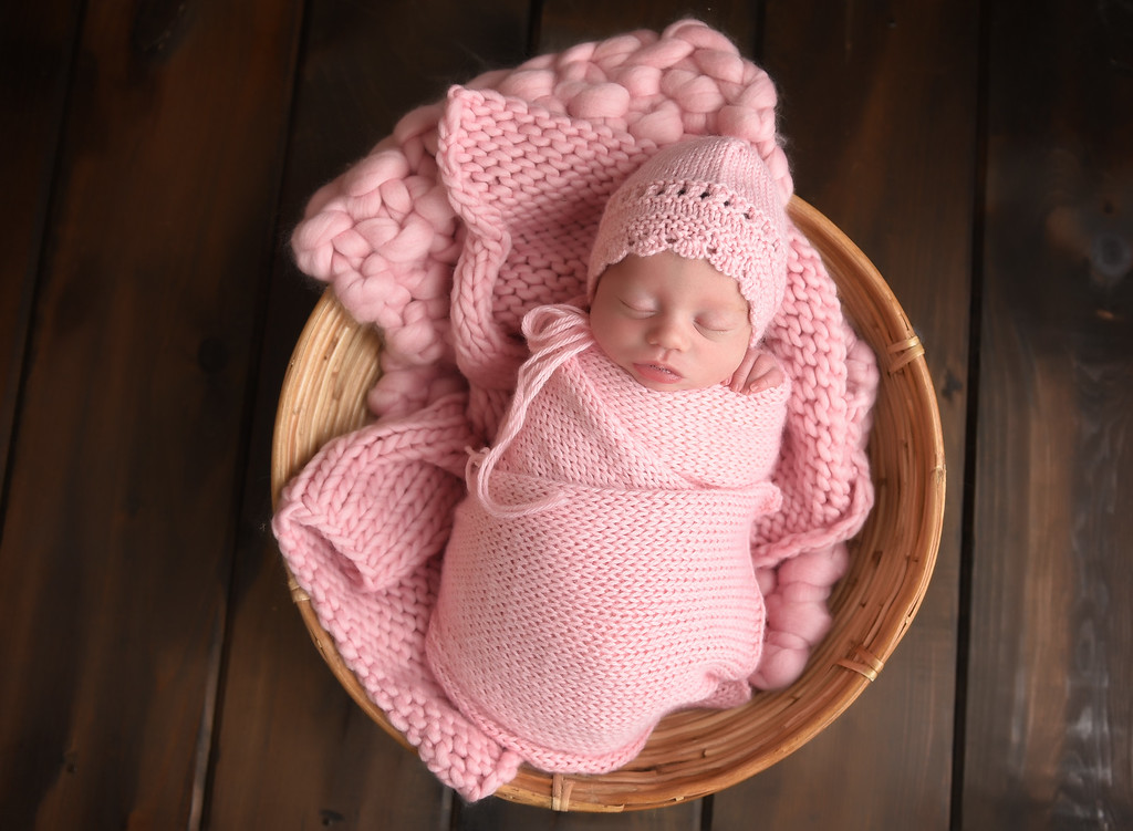 Pink Hat with wrap Set