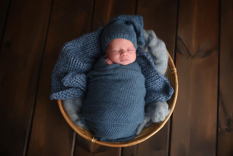 Blue Sleepy Time Hat Set