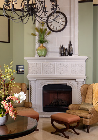 Positano Place Fireplace