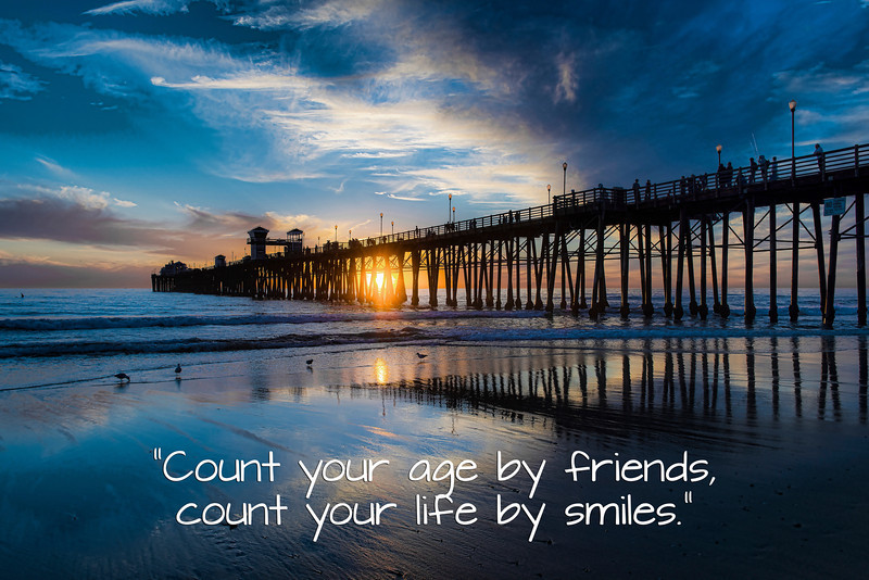 Count your life by smiles