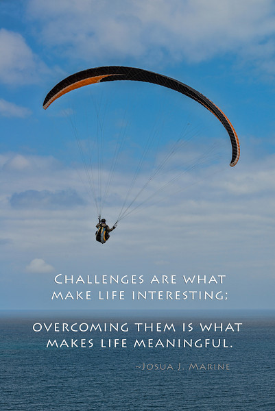 Paraglider and Challenges quote