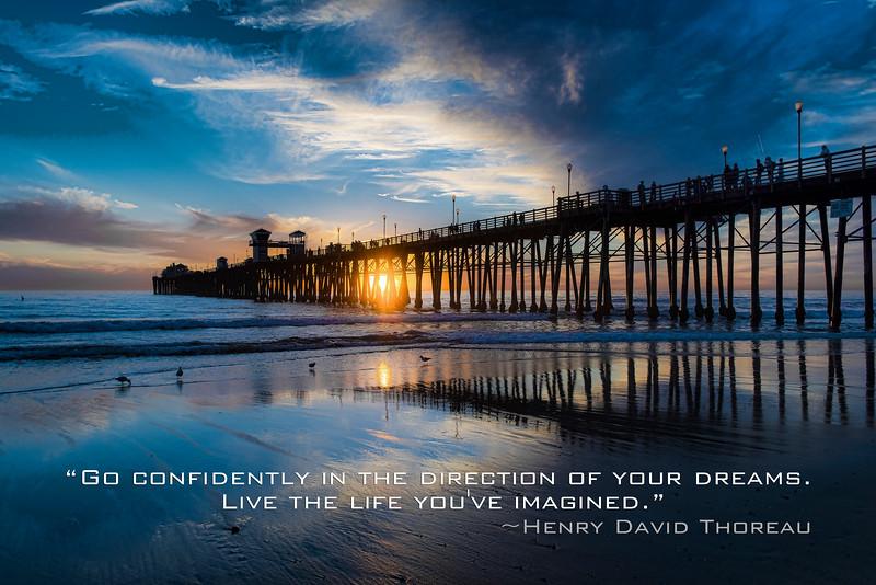Thoreau quote - pier