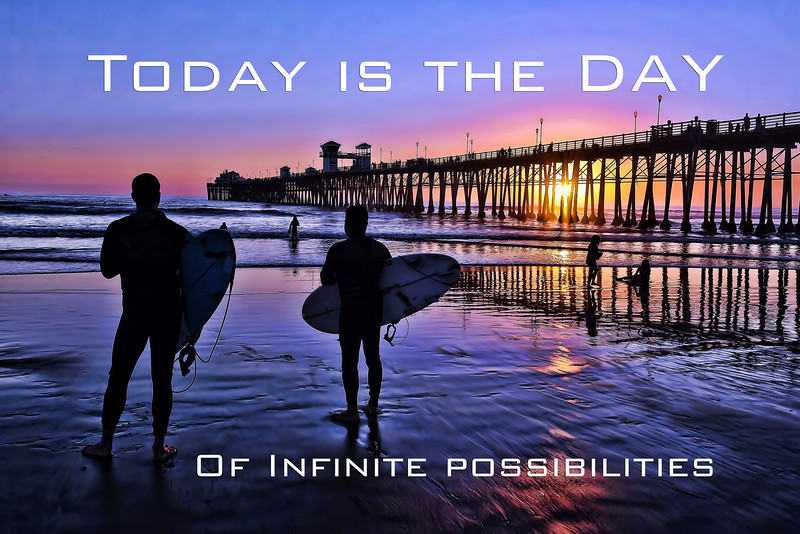 Infinite possibilities and surfers