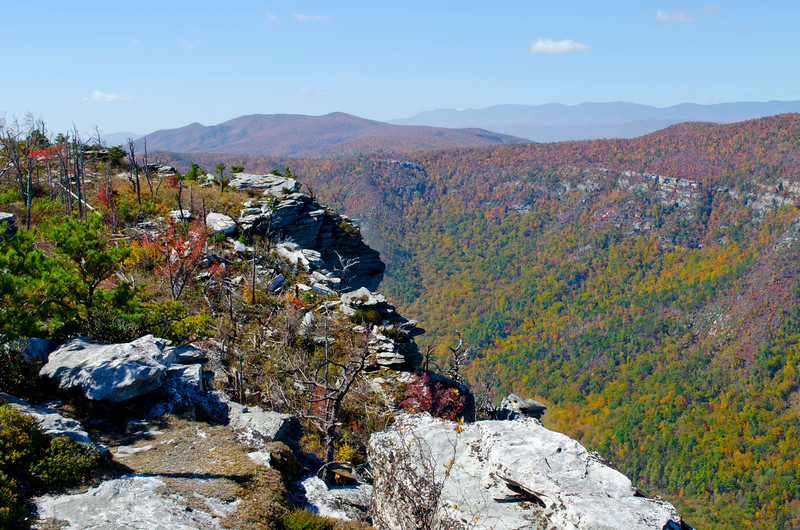 South down Linville Gorge toward Black Mountains