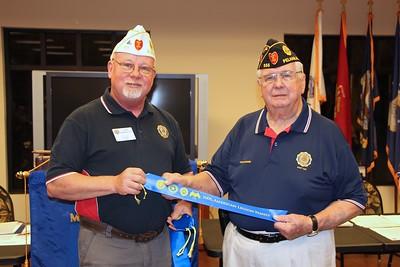 Tony Berenotto, Division 2 Commander presents Family Ribon to Tom Mc,Daniel, Post 555 Commander