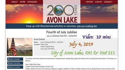 Video:  10 mins - Avon Lake 4th of July Celebration / Post 211