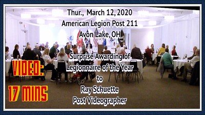 Video: 17 mins - Post 211 - Legionnaire of the Year 2019