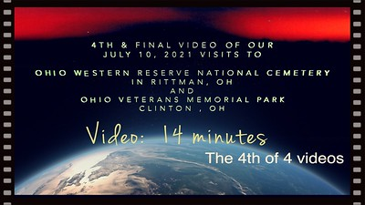 Video:  14 mins - Part 4 of 4 videos --OVMP, July 10, 2021, Clinton, OH