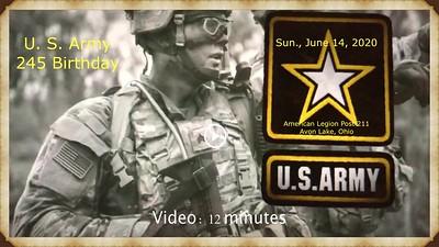 Video: 12 mins -- June 14, 2010 - U.S. Army BD, American Legion Post 211, Avon Lake, Ohio