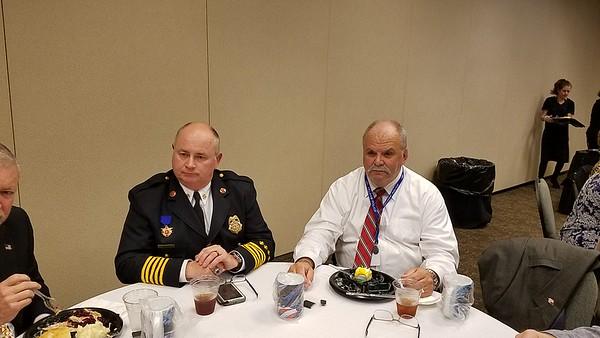 Pelham Fire Chief, Honeycutt and Pelham Police Chief Larry Palmer