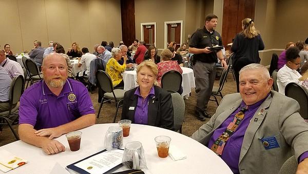 L-R Alabama State Adjutant, Greg Akers, Alabama State Commander, Donna Stacey, Past Alabama Stat Commander, Wayne Stacey