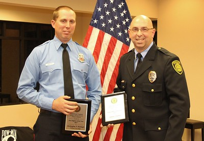 L-R: Christopher Mcintyre- Firefighter of the Year, James Carter- Police Officer of the Year.