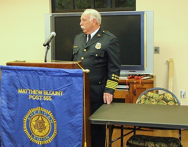 Fire Chief Danny Ray addresses Post Membership