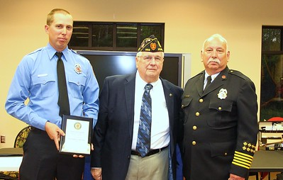 Fireman Christopher McIntyre, Commander Tom McDaniel, Fire Chief Danny Ray