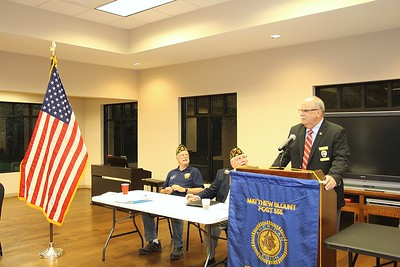 Pelham Police Chief, Larry Palmer address Post 555 Membership
