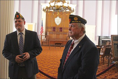 L-R: David Coram, Jr., Post Trustee, Tom McDaniel, Post Commander