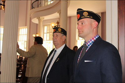 L-R:  ron McGriff, Post Sergeant -At-Arms,  Josh Vandiver, Legion Riders Squadron 555