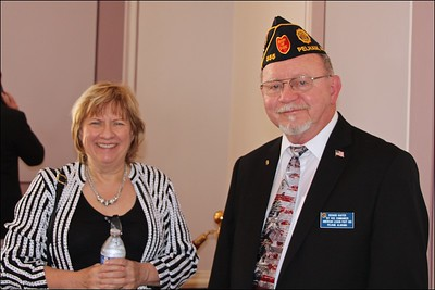 L-R: Mary Adams, Auxiliary Unit 555, Richard Kaster, Post 1st Vice Commander